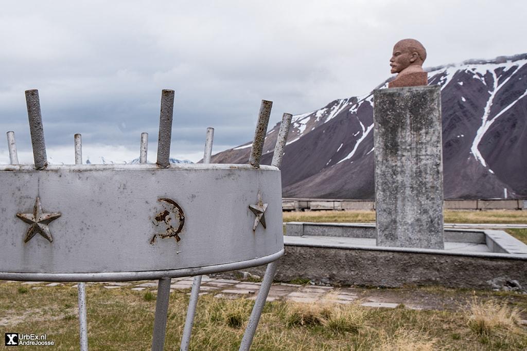 Lenin statue Pyramiden